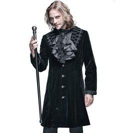 Gothic Black Men's Vintage Coat