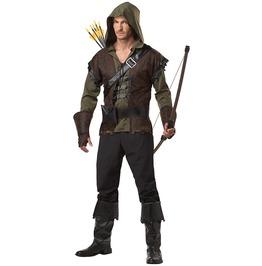 Realistic Robin Hood Men Adult Halloween Costume Set