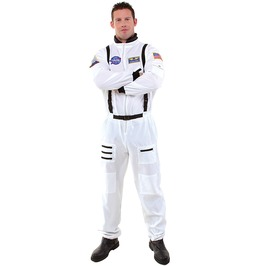 White Astronaut Jumpsuit Men Adult Halloween Costume