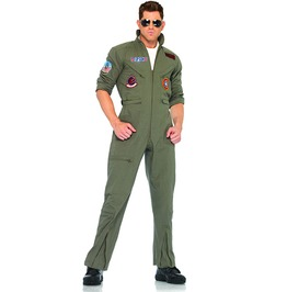 Officially Licensed Top Gun Flight Suit Men Adult Halloween Costume