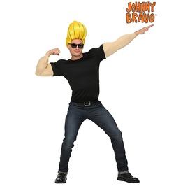 Johnny Bravo Blonde Wig Adult Costume Halloween Set