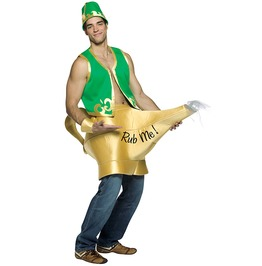 Genie And Magic Lamp Adult Costume Halloween Set