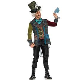 Colorful Mad Hatter Men Adult Costume Halloween Set
