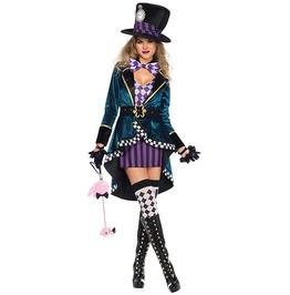 Delightful Hatter Adult Women Costume Halloween Set
