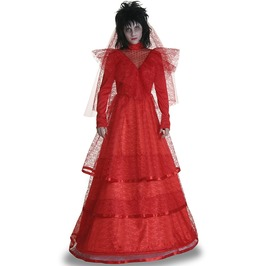 Red Gothic Wedding Dress Adult Women Costume Halloween Set