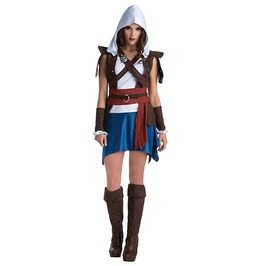 Edward Kenway Classic Assassins Creed Adult Women Costume Halloween Set