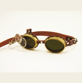 Steampunk Brass Goggles With Magnifiers