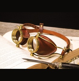 Steampunk Goggles Handmade Molded Leather And Brass Goggles