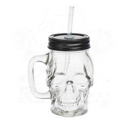 Glass Skull Drinking Jar Gothic