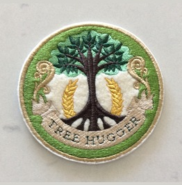 Embroidered Tree Hugger Crest Iron/Sew On Patch Badge
