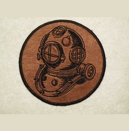 Embroidered Deep Sea Diver Helment Iron/Sew On Patch