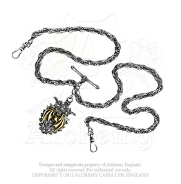 Magistus' Double Albert Fob Chain Gothic