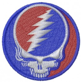 Iconic Grateful Dead Deadhead Skull Iron/Sew On Embroidered Patch