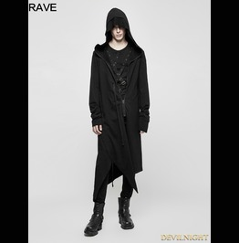 Black Gothic Dark Cardigan Hoodie Sweater For Men Y 817