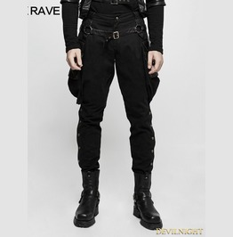 Black Gothic Steampunk Riding Breeches For Men K 304