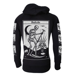 Death Tarot Card Hooded Sweatshirt Zip Hoodie Occult Goth Metal Biker