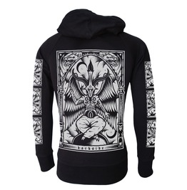 Baphomet Hooded Sweatshirt Zip Hoodie Occult Goth Metal Biker