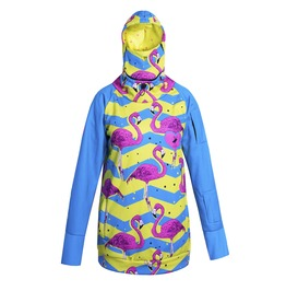Aruba Flamingos Hoodie With Replaceable Mask