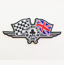 Embroidered London Ace Cafe Racer Iron On Patch.