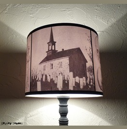 Graveyards Gothic Drum Lamp Shade