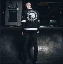 Mens Long Sleeve Mohawk Skull Punk Rock Hip Hop Sweater New Design