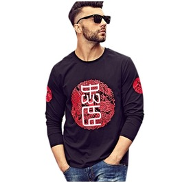 Mens Longsleeve Dragon Asian Sweater Embroidery Modern Style Quality Cotton