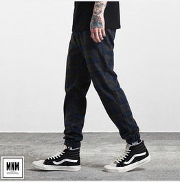Men's Stripe Hem Drawstring Casual Jogger Pants