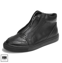 Men's Fashion Zipper Casual Cowhide Boots Board Shoes