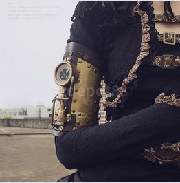Steampunk Arm Glove Accessory With Led Compass