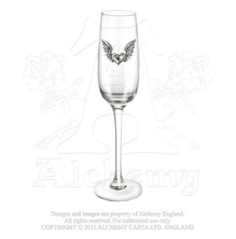 Wings Of Love Champagne Glass