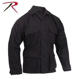 Mens Military Issue Fatigue Black Rip Stop Shirt Bdu Army Jacket Ships Free