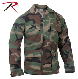 Mens Military Issue Fatigue Camo Rip Stop Shirt Bdu Army Jacket Ships Free