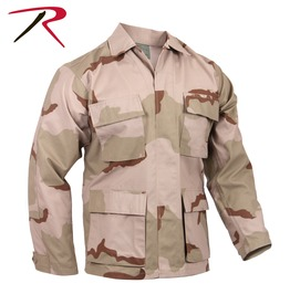 Mens Military Issue Fatigue Desert Camo Rip Stop Shirt Bdu Army Jacket