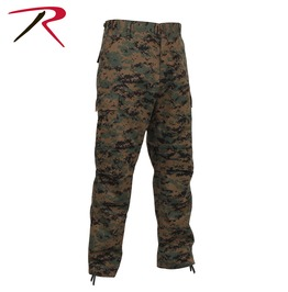 Men's Military Digital Woodland Camo Cargo Pants Tactical Bdu Army Trousers