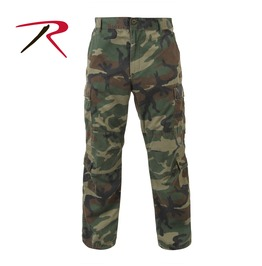 Men's Military Fatigue Woodland Camo Cargo Pants Tactical Bdu Army Trousers