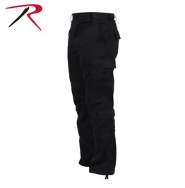 Men's Military 8 Pocket Paratrooper Black Cargo Pants Bdu Army Trousers