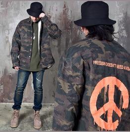 Camouflage Loose Jacket Shirts 189