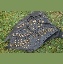 Goth Leather Bag Black Crossbody Bag, Steampunk Shoulder Bag Handmade