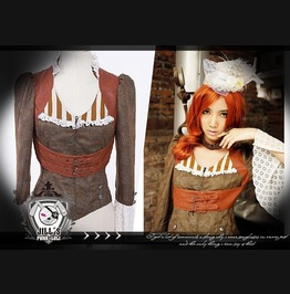 Goth Victorian Steampunk Romewen Concubine Flare Sleeve Dress Blazer Sp017