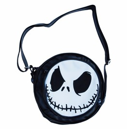 Nightmare Before Christmas Small Round Shoulder Bag Jack Skellington Face