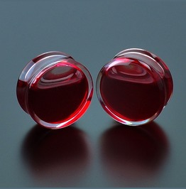 Red Liquid Blood Ear Plug Gauges