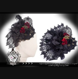 Goth Visual Victorian Steam Punk Magpie Cage Fascinator Hairclip Sp038