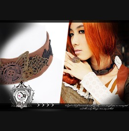 Steampunk Industrial Revolution Butterfly Effect Gear Wheel Choker Jrsp037