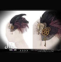Goth Visual Victorian Steam Punk Pheasant Feather Fascinator Hairclip Sp042