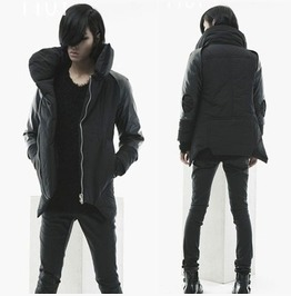 Mens Winter Fashion Coat Stand Collar Zip Up Jackets
