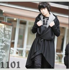 Men Woolen Blend Fashion Long Overcoat Korean Fashion Outwear