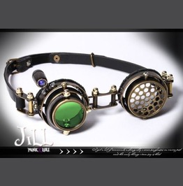 Steampunk Cosplay Aion Aethertech Steel Calvary Pilot Goggles Sp071