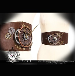 Steampunk Air Vehicle Siege Program Leatherette Cummerbund Sp072 Br