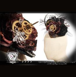 Goth Victorian Steam Punk Vespa Proengine Fascinator Hairclip Jrsp078