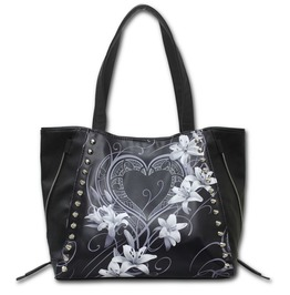 Spiral Hand Tote Bag Pure Of Heart Studded Gothic